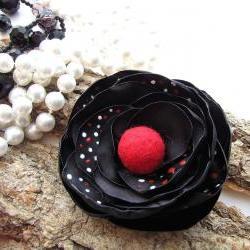 Handmade Fabric Flower Bro..